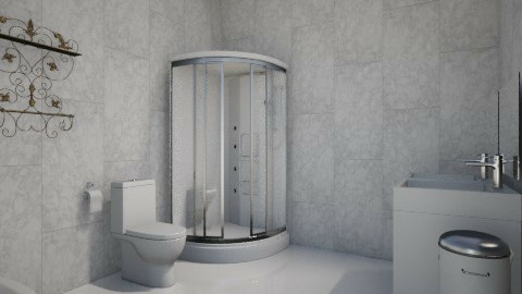 White - Minimal - Bathroom - by Anna Wu