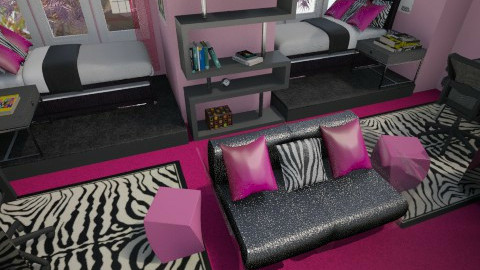 zebra twins bedroom - Kids room  - by allday08