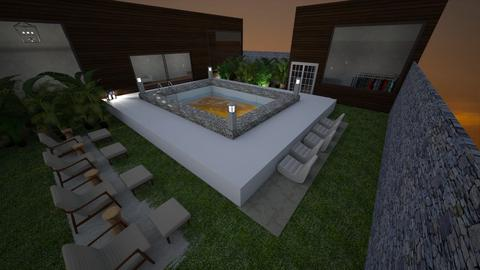 Modern Pool - Garden  - by Riordan Simpson