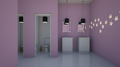 Lavender Public Restroom - Office  - by designcat31