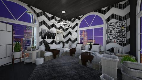 Black and White - Eclectic - Living room - by Nina Yaya and Coco