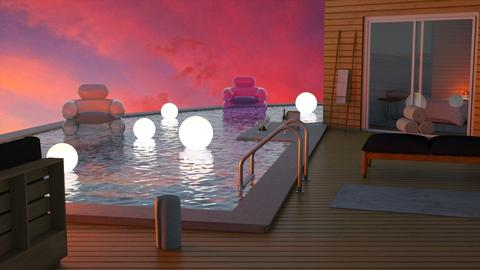 Modern Party Pool - by Norbosa