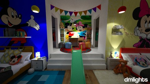 Crazy Mickey and Minnie2 - Kids room - by DMLights-user-1545584