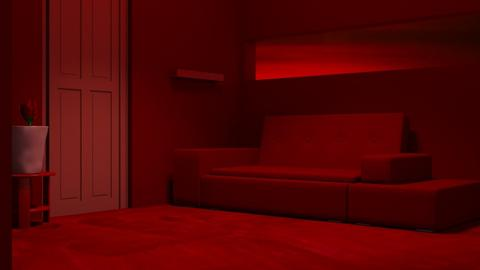 Red 1 - Living room  - by designkitty31