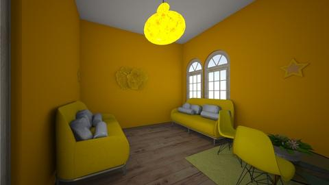Yellow - Living room  - by Natalie_2021