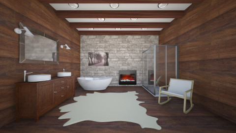 Mountain Bathroom 2 - Rustic - Bathroom - by Remixraum