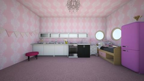 cupcake kitchen bedroom - Vintage - Bedroom  - by wildvioletkiss