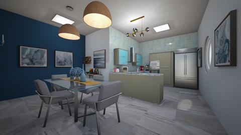 ocean  cozinha  - Kitchen  - by bruna matos