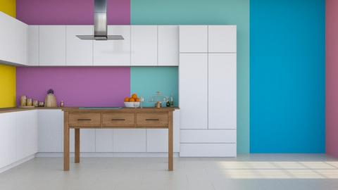 Colorful Kitchen  - Modern - Kitchen  - by NEVERQUITDESIGNIT