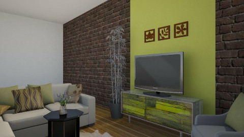 Green brown - Living room - by lokislc