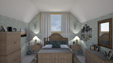 Sloped Attic Room - Bedroom  - by KarJef