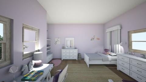 twin girl bedroom - Feminine - Bedroom - by mollyymaryy