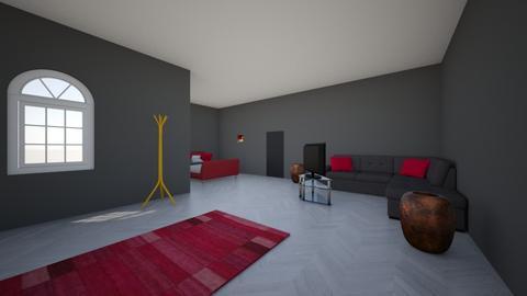 Italian charcoal bedroom - Bedroom  - by edwinhern2400