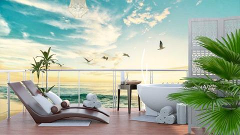 spa on the gulf  - Modern - by NEVERQUITDESIGNIT
