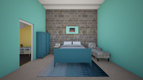 teen bedroom mansion 1 - Modern - Kids room  - by chlbartz03