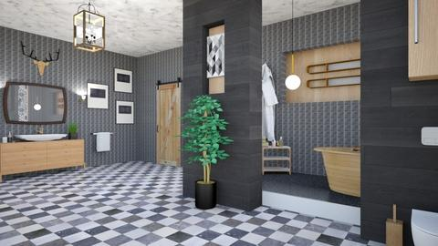 OAK BATH  - Modern - Bathroom  - by zayneb_17