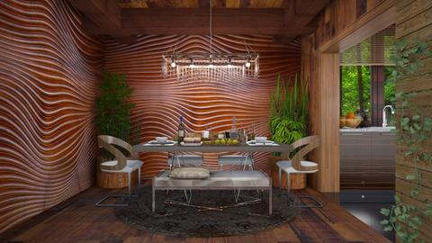 wooden home  - Modern - Dining room - by Ida Dzanovic