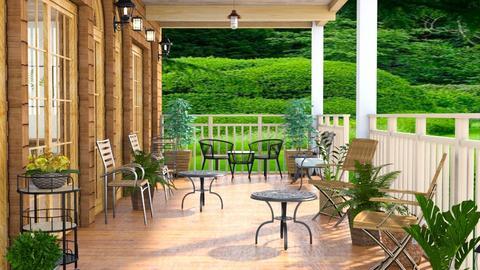 summer porch - Garden  - by Moonpearl