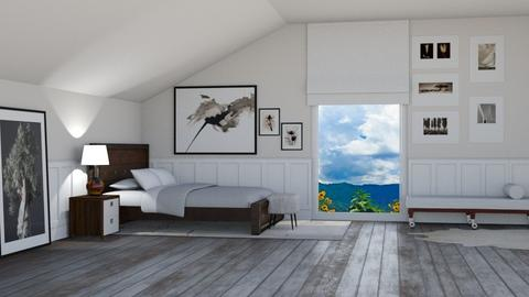 attic room - Bedroom  - by ashpashly