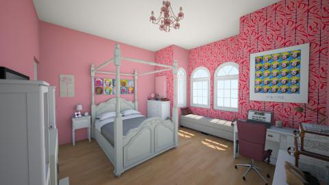 cambrias room - Feminine - Bedroom - by ockey33