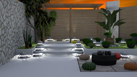Zen Garden_Evening - Garden  - by Feeny