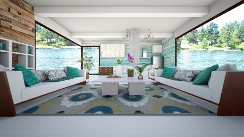 Summer On The Boat House - Modern - Living room - by bgref