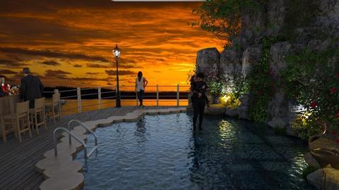 Hotel Pool Template - Modern - Garden  - by tjmax