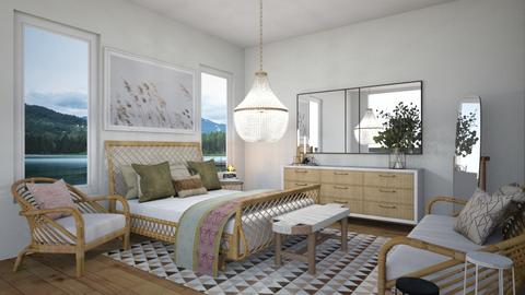 Geometric x Cane Bedroom - Bedroom  - by SunflowerStudios