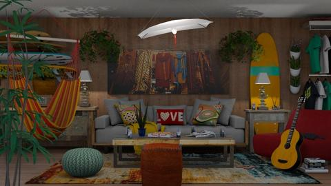 Hang Ten - Eclectic - Living room  - by Theadora