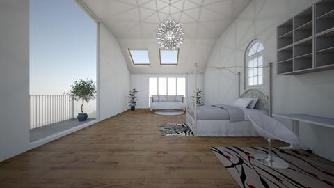 my attic room 3 - Classic - Bedroom  - by AnaP2004