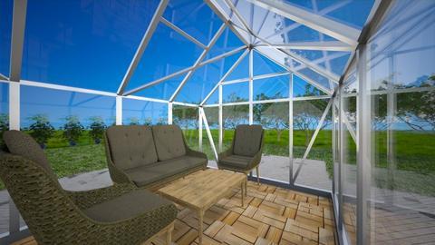 Glass lounge house - Garden  - by KathyScott