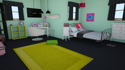 mina bedroom - Eclectic - Bedroom  - by bloodandtea