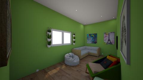 Green familyroom - Modern - Living room  - by Sophia_Pavate_