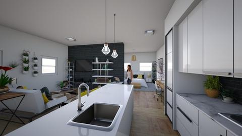 Student Dorm_Studio - Modern - by Candleshy
