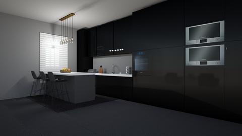 Dark Kitchen - Kitchen  - by cagla_deniz_