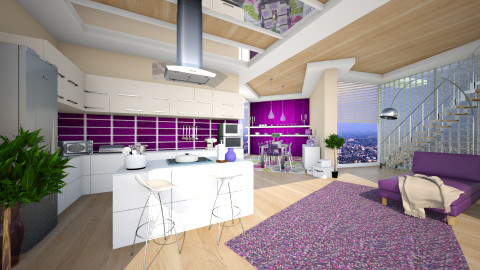 in purple and beige - Modern - Kitchen  - by Senia N
