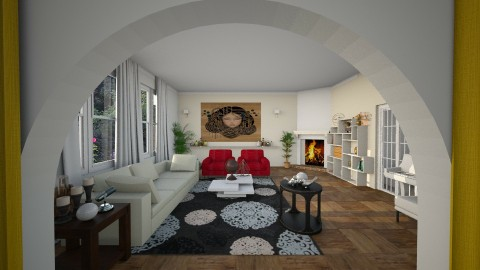Zeppelin - Retro - Living room  - by Bianca Biffa Hart