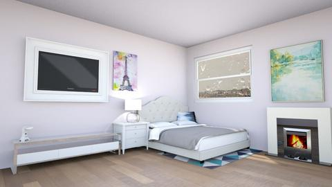 Stormy Day Bedroom - Modern - Bedroom  - by V A N N Y