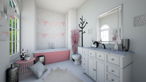 Pastel Pink Bath - Eclectic - Bathroom  - by CreativeCE