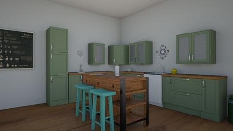 green kitchen - Kitchen  - by 29catsRcool