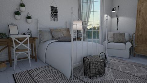 Scandi boho - Bedroom  - by Thrud45