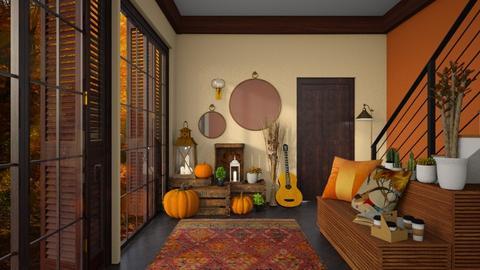 Autumn hallway - by sara1010