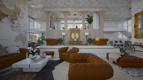 Vintage Living - Living room - by beafreitasb
