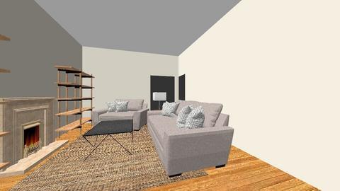 blue living - Living room - by brynnajoy1