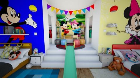 Crazy Mickey and Minnie_24 - Kids room  - by Hajnalka978