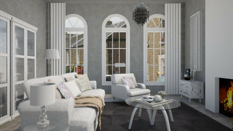 Comfy concrete - Classic - Living room - by Tuija