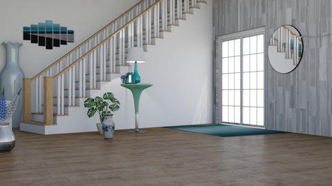 Retro blue staircase - by ellta