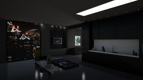 Dark Kitchen - Modern - Kitchen  - by sfurkan