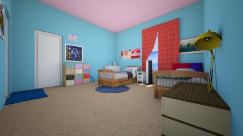 Zanas Room after view 1 - Kids room - by kenzielu