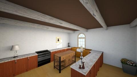 Simple Vintage - Rustic - Kitchen  - by EMO MOTHERHECKER